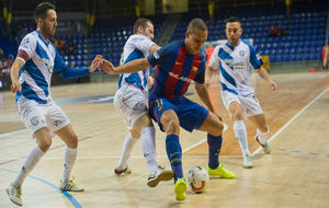 Ferrao, jugador del Barcelona Lassa en un partido contra Jumilla