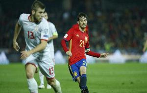 Partido de clasificación para el Mundial 2018 de España contra...