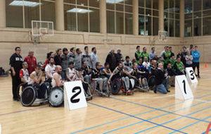 Los campeones de España de rugby en silla.
