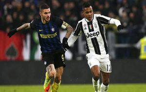 Icardi, en un lance del partido ante la Juventus.