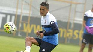 Fajr, en un entrenamiento del Deportivo.