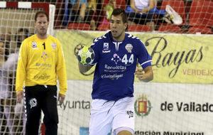Dani Dujshebaev durante un partido con el Atlético Valladolid