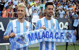 Keko y Jony en la presentación con el Málaga.