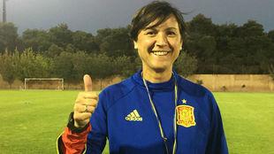 Toña Is, seleccionadora nacional, durante el Mundial Sub'17 de...