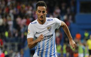 Juankar durante un partido de esta temporada con el Málaga