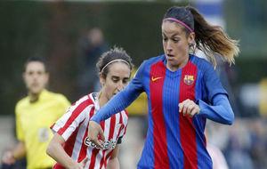 Olga García durante un partido ante el Athletic esta temporada.