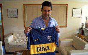Daniel Angelici, presidente de Boca, en una entrevista con MARCA