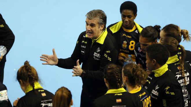 Jorge Dueñas, en el pasado Torneo Internacional femenino.