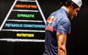 Sainz, en el gimnasio de Red Bull en Milton Keynes.