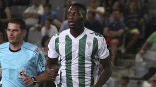 Bijimine, durante un partido con el Córdoba