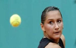 Bychkova, durante un partido