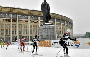 Esquiadores durante una competición en Moscú