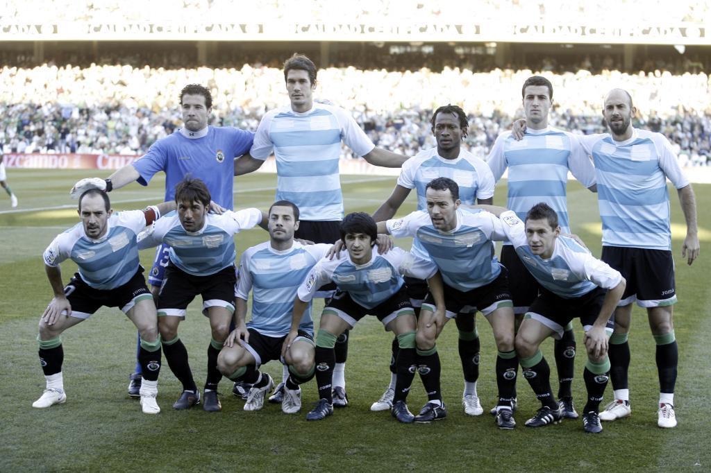 En 2008, el Racing jugó en el Villamarín con la tercera equipación...