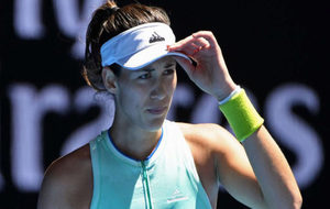 Garbi�e Muguruza en el Open de Australia.