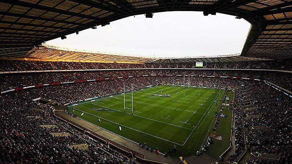 Twickenham, la 'catedral del rugby europeo' antes de un partido del...