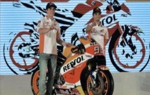 Marc Márquez y Dani Pedrosa, durante la presentación de Honda