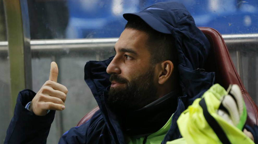 Arda Turan, la semana pasada en el Calderón.