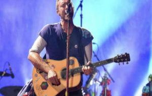 Chris Martin, vocalista de la banda Coldplay