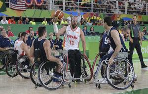 Asier García en la final paralímpica de Río ante Estados Unidos.