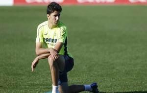 Rodri, durante un entrenamiento del Villarreal.