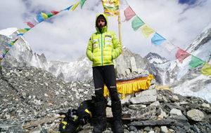 Alex Txikon en el Campo 4 del Everest.