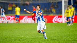 Mantovani en el partido frente a la UD Las Palmas