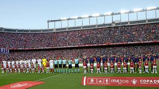Final de la Copa del Rey 2016 entre Barça y Sevilla en el Calderón.