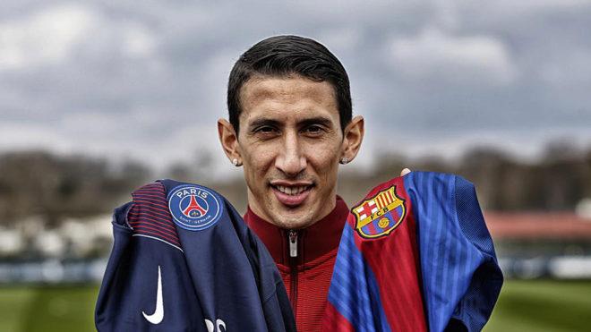 Le hackearon la cuenta de Twitter a Barcelona y Di María fue compañero de Messi por unos minutos