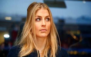 Theresa Johaug durante una rueda de prensa en Oslo.