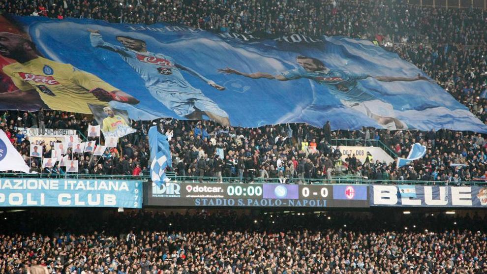 La afición del Nápoles, la temporada pasada en San Paolo.