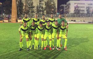 Los futbolistas del Eldense, durante un encuentro esta temporada