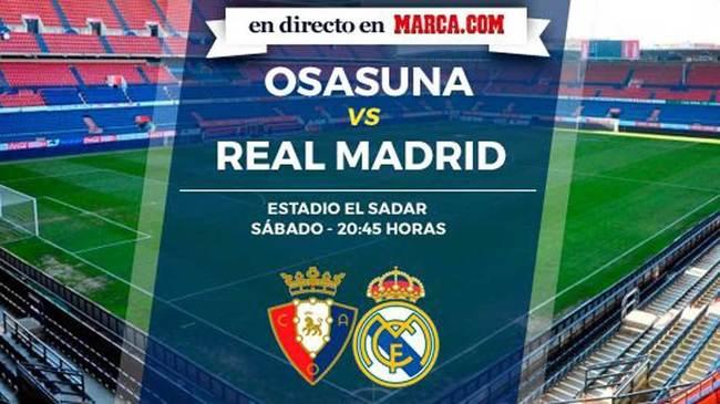 Osasuna online Madrid Real en directo - LaLiga Santander vs