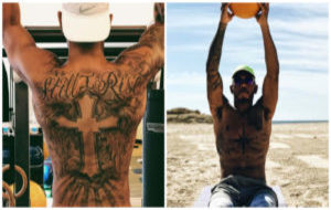 Hamilton trabaja su musculatura en el gimnasio y la playa.