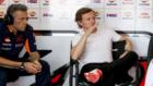 Sete Gibernau, en el box de Honda durante el pasado test de Malasia.