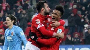 Celebración del primer gol