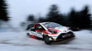 El piloto de Toyota está mostrando la mejor cara del nuevo Yaris WRC.