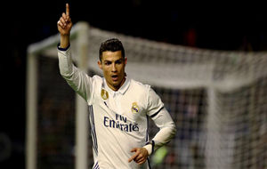 Cristiano celebra su gol ante Osasuna