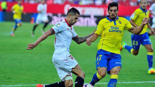 Vitolo, en el partido frente a la UD Las Palmas en el Sánchez...
