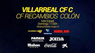 En directo, Villarreal CF C - CF Recambios Colón