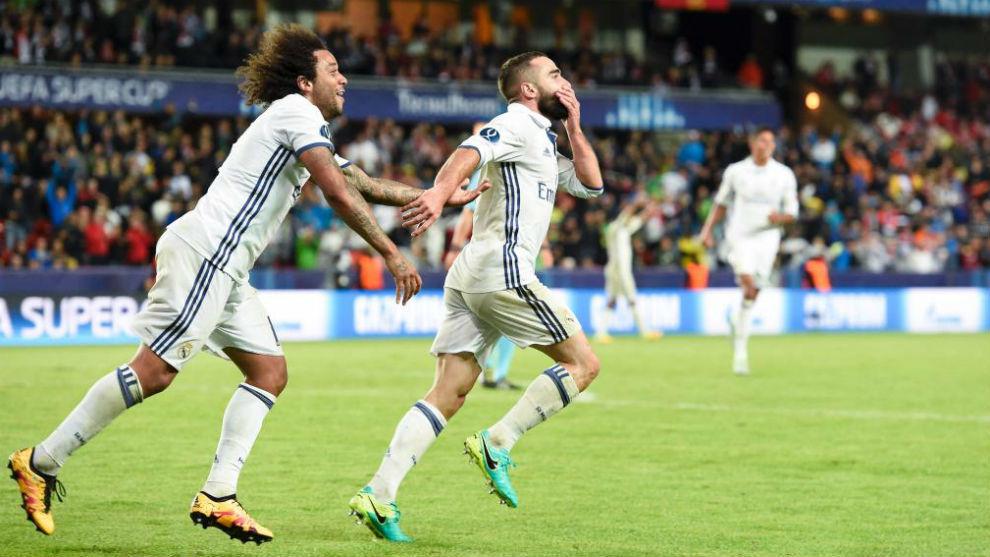Carvajal y Marcelo en la SuperCopa de Europa