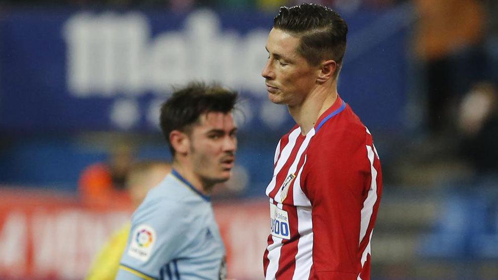Torres, tras fallar un penalti ante el Celta