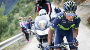 Nairo Quintana en su ascensión del 4 de febrero a Mas de la Costa.
