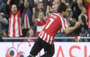 Be�at aprieta el pu�o para celebrar uno de los goles que ha marcado...