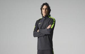 Cavani posa como imagen de Nike