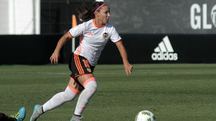 Mari Paz Vilas durante un partido esta temporada.