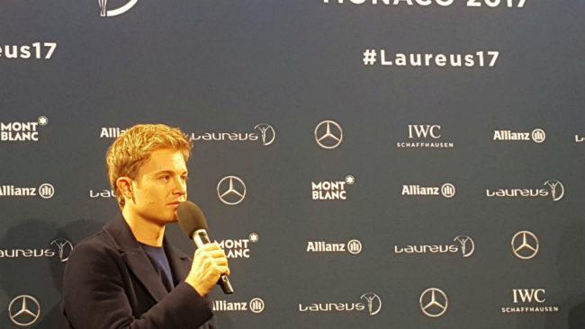 Nico Rosberg, en la gala de los Premios Laureus del Deporte.