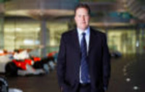 Zak Brown, en la sede de McLaren Group en Woking.