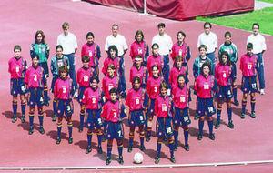 La selección española que participó en la Eurocopa de 1997.