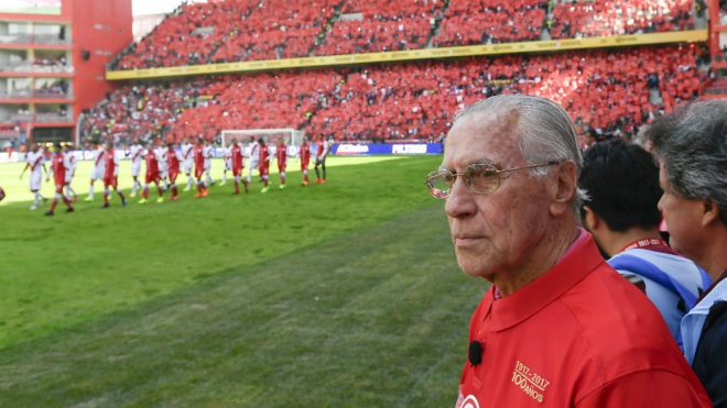 Florentino López, en los actos del Centenario del Toluca el domingo...