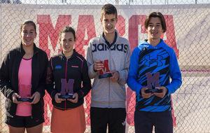 Campeones y finalistas en la primera cita, en la Ciudad de la Raqueta...